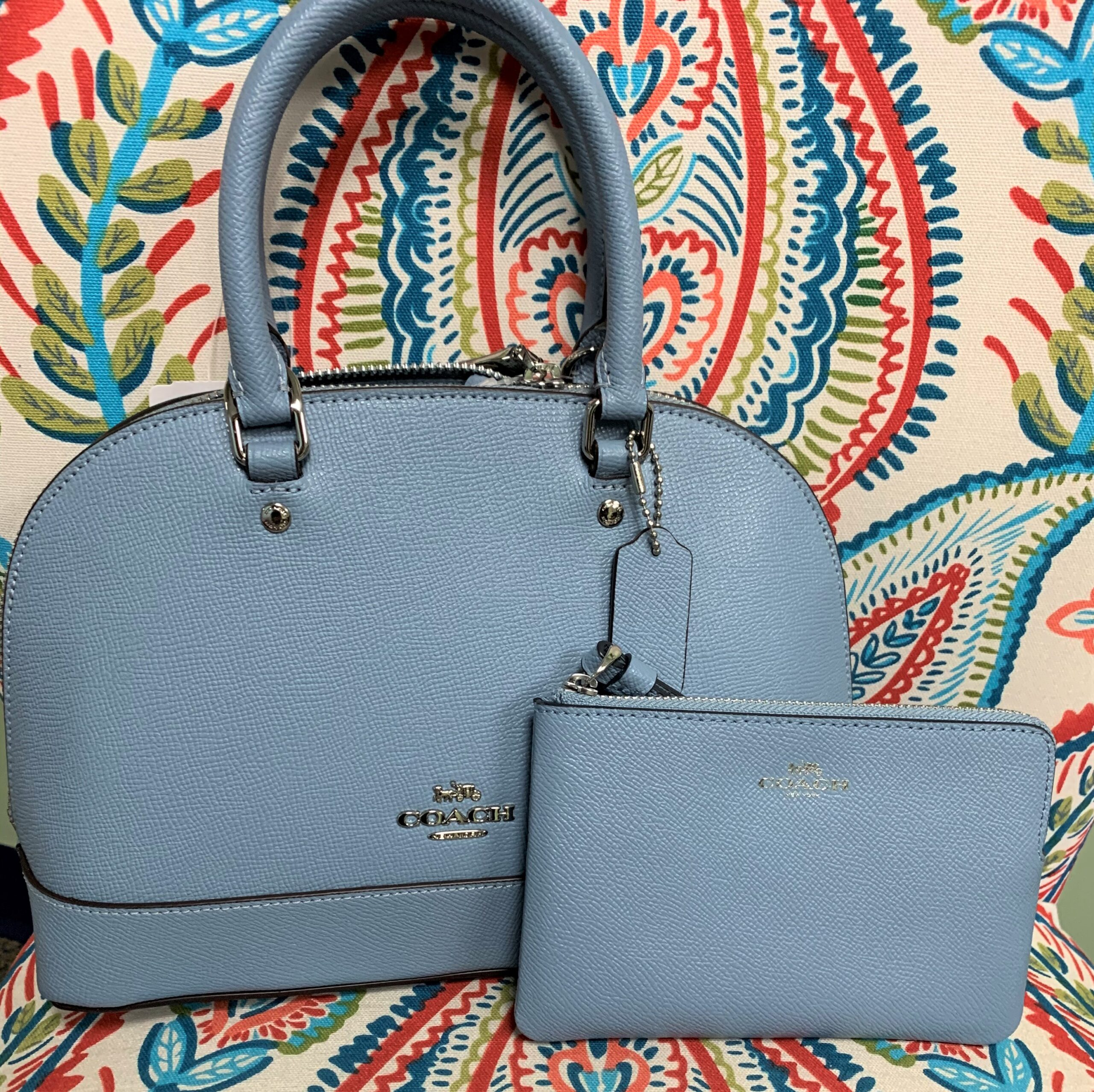 Coach Lt Blue purse and wallet